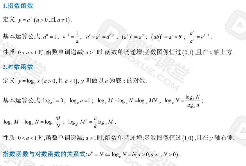 聯考數學公式(一)代數部分